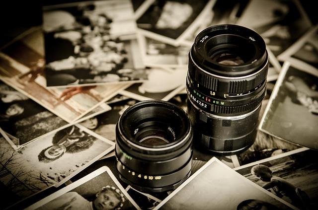 objektivy na fotkách